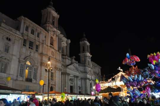 One Christmas tradition in Italy: a Christmas market