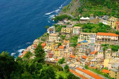The small town of Riomaggiore, on the Cinque Terre