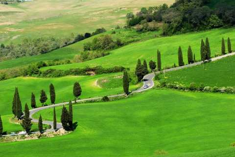 The Val d'Orcia in Tuscany
