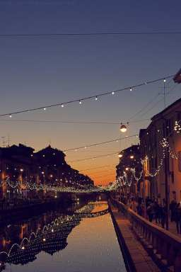Navigli, a great shopping district in Milan