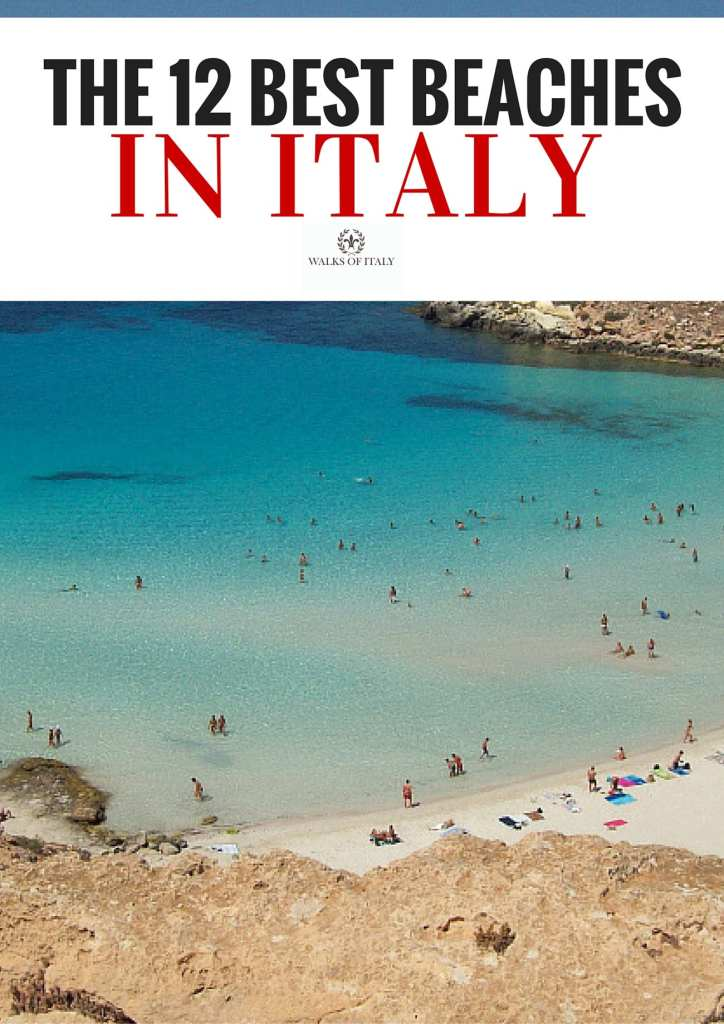 Rabbit Beach in Lampedusa, Sicily is one of Italy's prettiest and most pristine beaches. Find out what other beaches made it onto the list of Italy's best on the the Walks of Italy blog.