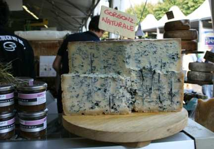 Gorgonzola, a cheese in Italy