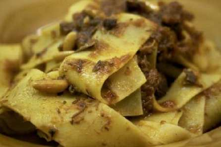 Pappardelle sul papero at a top-notch Firenze restaurant