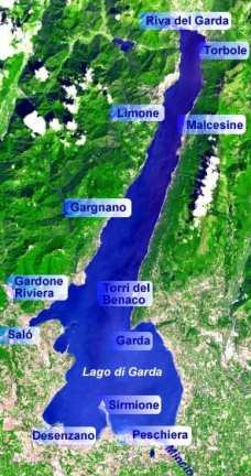 Map of Lake Garda