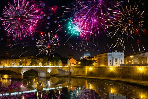 Fireworks in Rome for New Year's