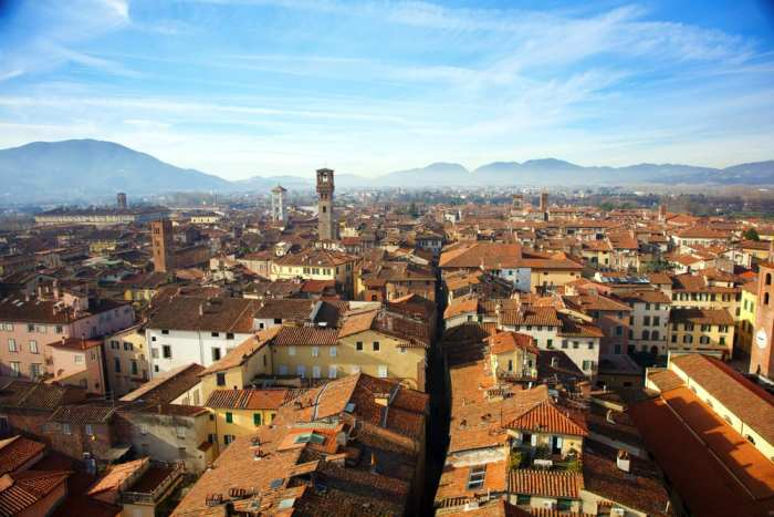Panorama of lovely Lucca