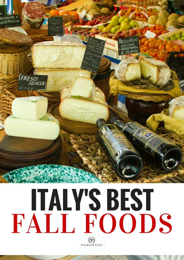 Fall foods in a Florentine market are some of the great pleasures of autumn eating in Italy. Check out the full list of great Italians fall foods on the Walks of Italy blog.