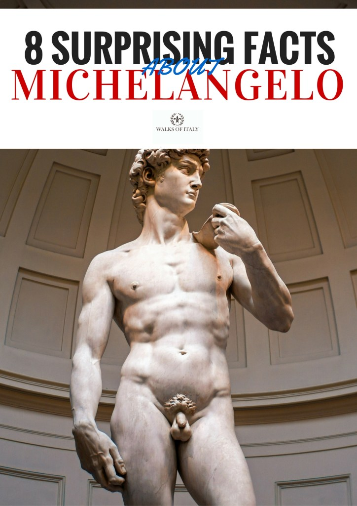 Michelangelo's David was carved from a block of disused marble. Find out some of the other interesting facts that made Michelangelo so unique on the Walks of Italy blog.
