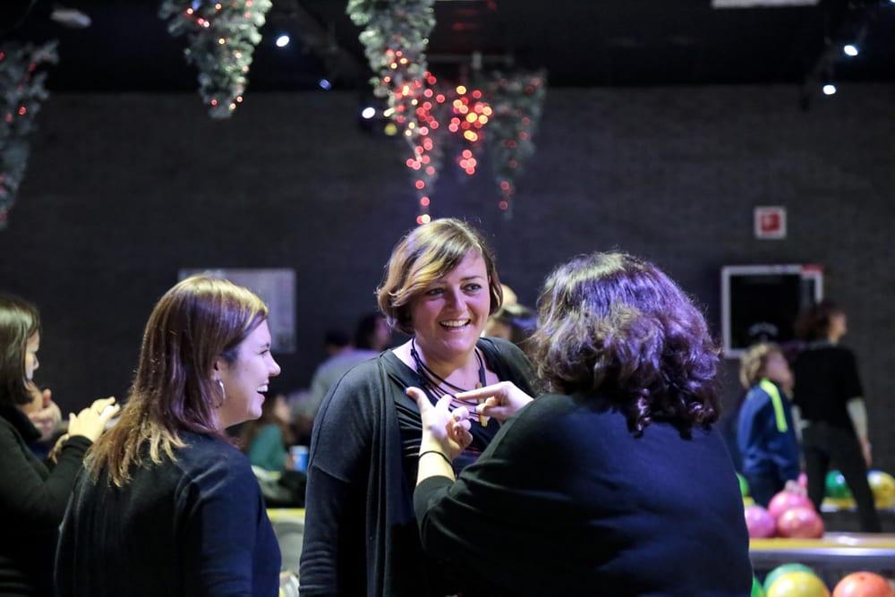 Doriana De Padova shares a laugh with some of her fellow guides.