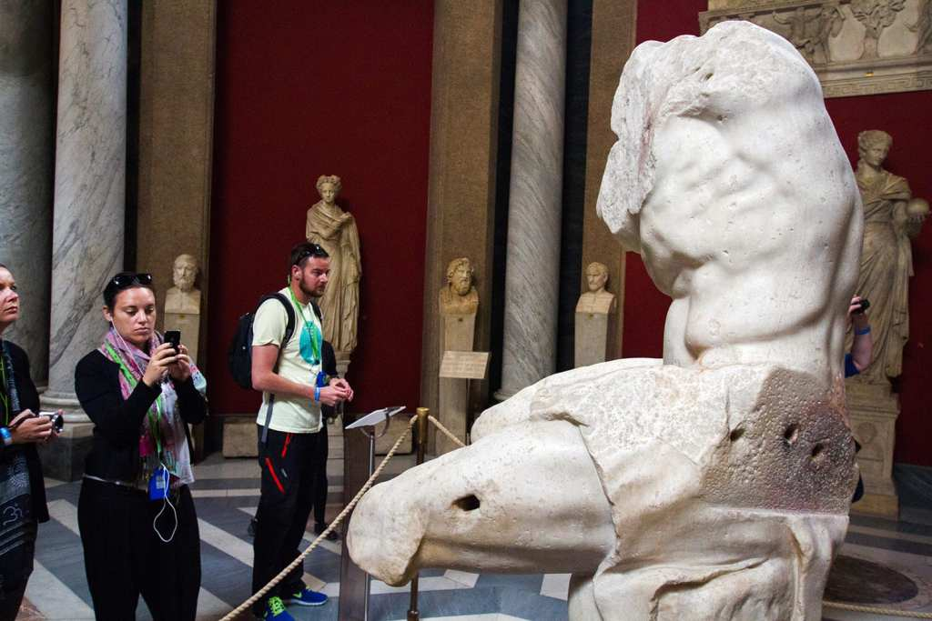 If you don't know the story of Hercules this just looks like a old, broken statue. But if you do, it looks like the torso of one of the world's greatest heroes.