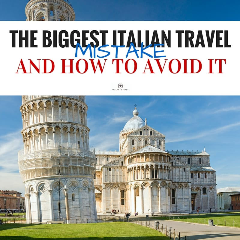 Find out the single biggest mistake that almost all travelers make when planning their trip to Italy and how you can avoid it.