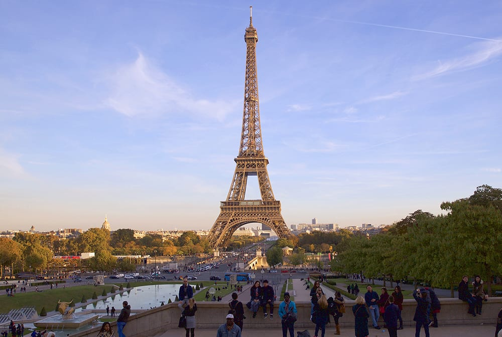 A view of the Eiffel Tower from the trocadero