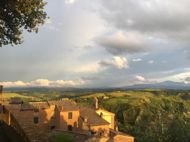 Landscape subject during our plein air painting workshop in Tuscany Italy