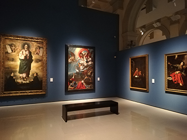 Visiting the Museo of Catalonia during our art tour in Barcelona Spain