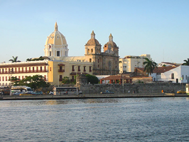 View of Bay of Cartagena during Walk the Arts winter escape in South America