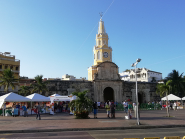 Enjoying Cartagena during our art and food workshop in South America