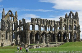 Ruins of Whitby Abbey A Grade I listed structure cared for by English Heritage.
