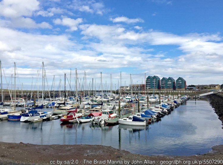 The Braid Marina Built inside the eastuary of the River Coquet at Amble.
