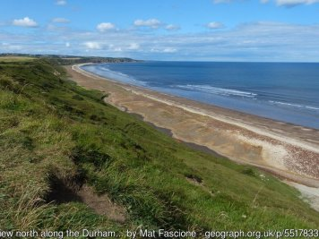 View north along the Durham Heritage Coast
