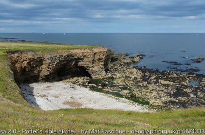 Potter's Hole at the Whitburn Coastal Park