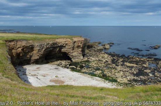 Potter's Hole at the Whitburn Coastal Park