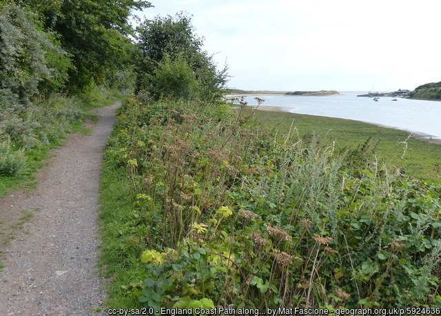 England Coast Path along the River Wansbeck