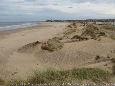Coatham Sands, Redcar A view eastwards along the dunes at Coatham Sands, looking towards Redcar