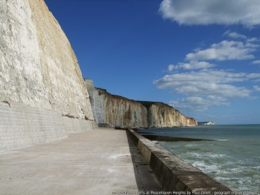 Cliffs at Peacehaven Heights The path runs for 2km from Telscombe to the edges of Newhaven