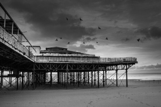 Former pier at Colwyn Bay - this is no longer there.