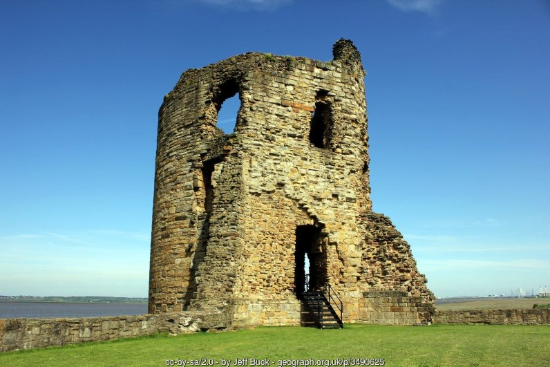 The East Tower of Flint Castle Built during Edward 1's campaign to conquer Wales and slighted during the civil war.