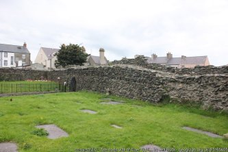 The north wall of Caer Gybi (Roman Fort) Caer Gybi fort is one of Europe's only three-walled Roman forts.