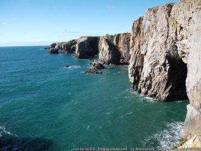 Elegug stacks and surrounding cliffs