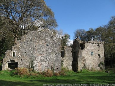 Candleston Castle Fortified manor house.