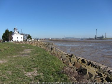 The former West Usk Lighthouse