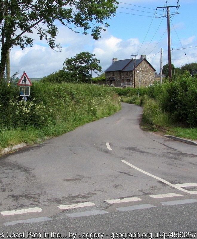 Wales Coast Path in the west of Ferryside