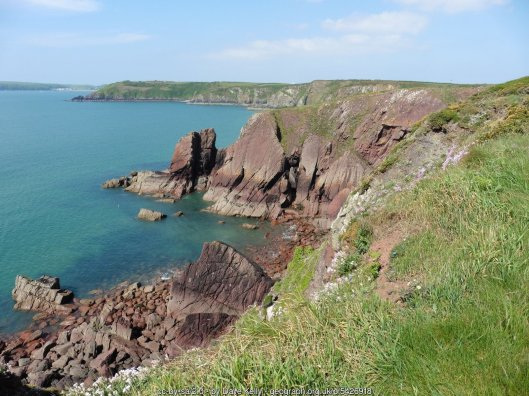 The Pembrokeshire Coast Path near Rock's Nest Point