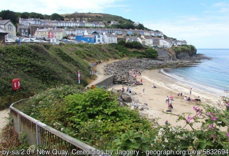Walk the Wales Coast Path from Aberaeron to Cei Newydd / New Quay