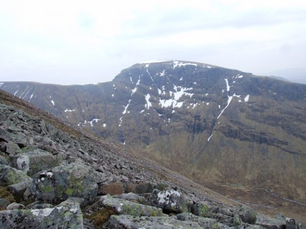 Ben Nevis CMD Arete from the North Face Car Park