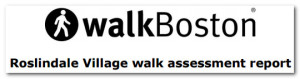 WalkBoston Walk Audit Header