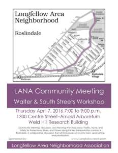 South and Walter Streets Visioning Session Flyer
