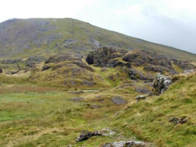Walking up Moel Hebog from Beddgelert