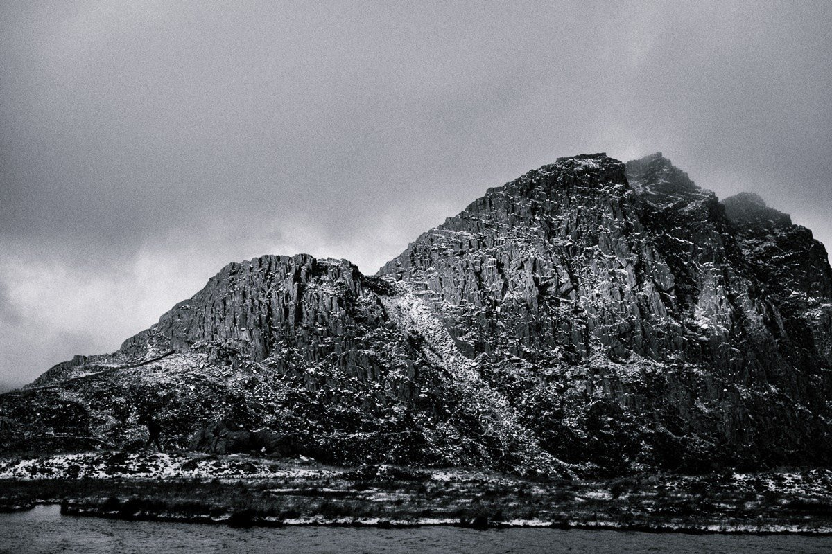Walking in the Glyderau - Tryfan in Monochrome