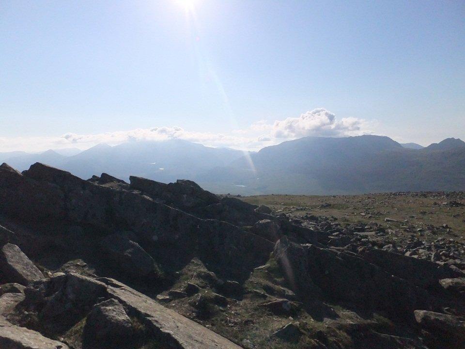walks in snowdonia - Moel Siabod view towards Snowdonia