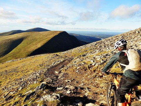 Mountain Biking up Snowdon
