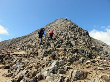 Crib Goch - IMG5 - Crib Goch's east ridge