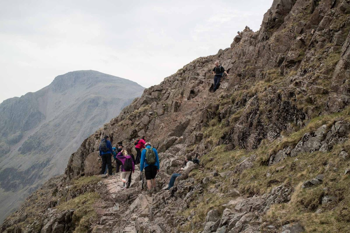 Scafell Pike National 3 peaks Route for Scramblers