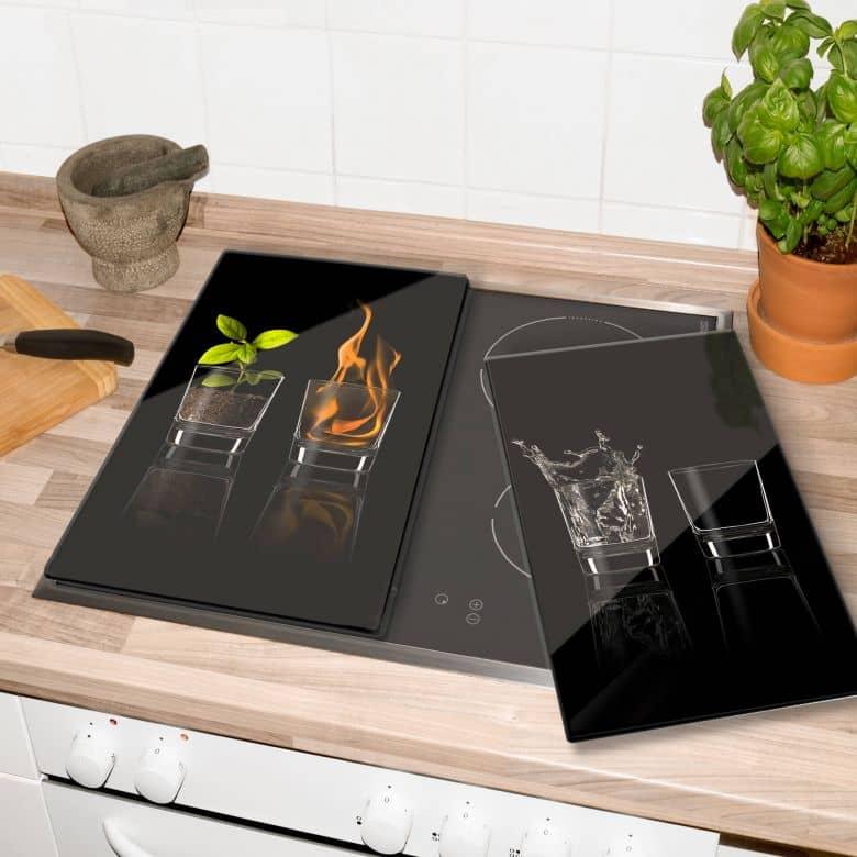 protege plaques de cuisson les 4 elements