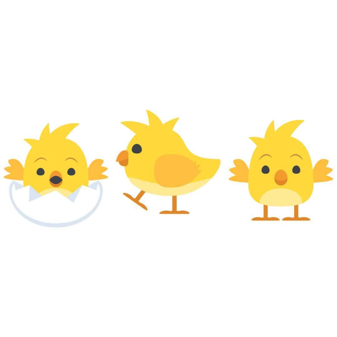 Wandtattoo Emoji Baby Kuken