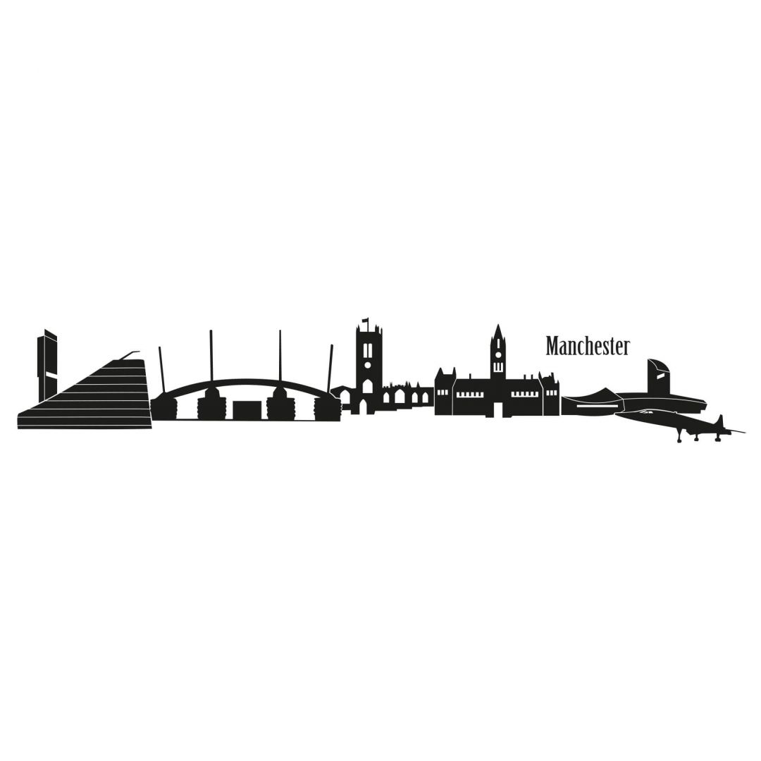 Manchester Skyline 1 Wall Sticker