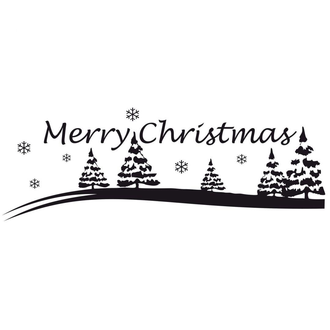 Merry Christmas Amp Winter Landscape Wall Sticker
